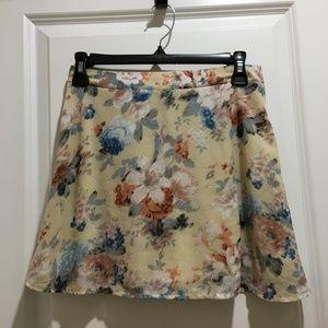 Tobi Floral Chiffon Skirt